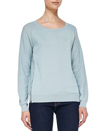 Alise Side-Zip Raglan Sweater