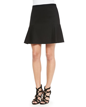 Napa Fluted Skirt, Black