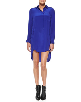 Satin High-Low Shirtdress
