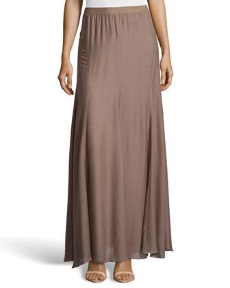 Flowy Chiffon Maxi Skirt, Iron