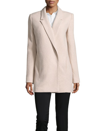 Oversize Wool-Blend Boucl?? Coat, Atmosphere