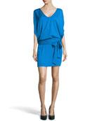 Edna Woven Dress, Fleck Blue