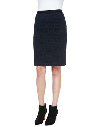Sherlock Diamond-Pattern Pencil Skirt