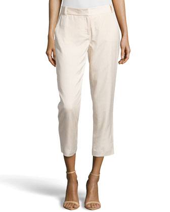 Georginne Woven Crop Pants, Hay Stack