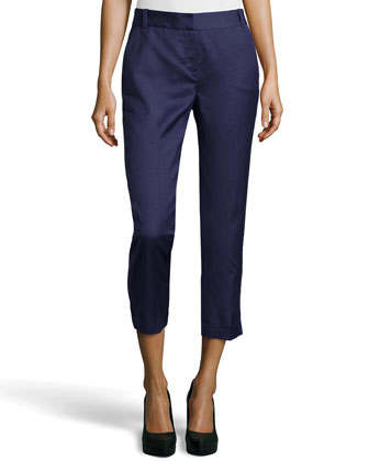 Georginne Woven Crop Pants, New Denim