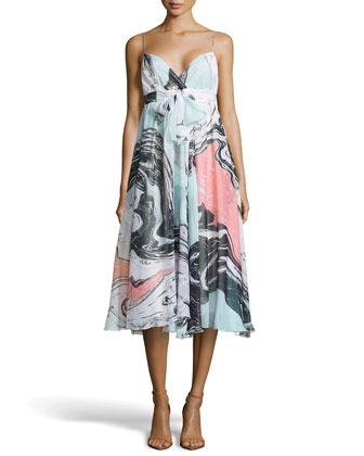 Jolie Spring Marble Dress