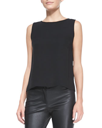 Maddie Silk Sleeveless Top