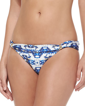 Pyramid Banded Printed Swim Bottom
