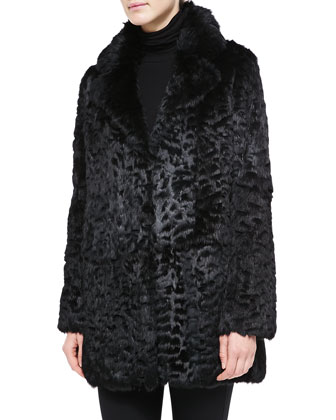 Laser-Cut Rabbit Fur Coat
