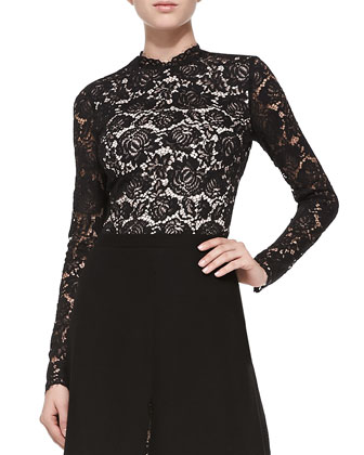 Pandora Long-Sleeve Lace Top