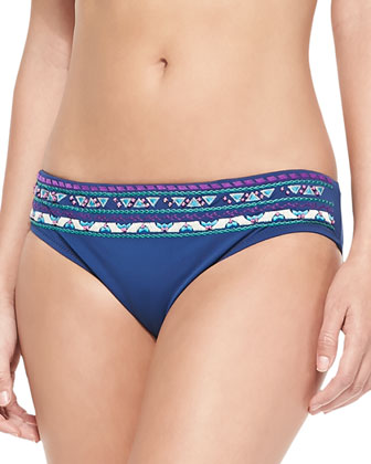 Costa Del Sol Embroidered Bandeau Top & Swim Bottom