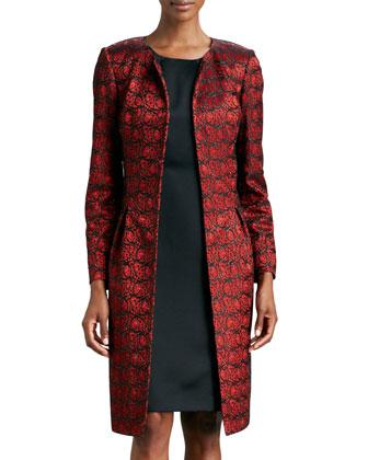 Lace Jacket & Sateen Sheath Dress Set