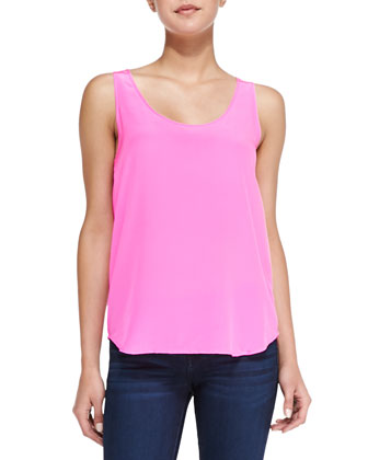Sunkissed Silk Tank Top, Pink