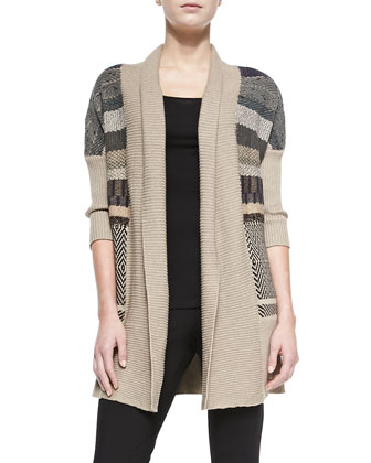 Striped Mix Cozy Cardigan, Women's