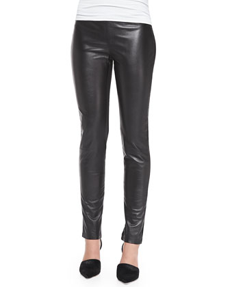 Leather & Ponte Leggings