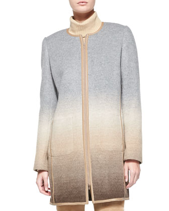 Shira Ombre Wool-Blend Coat