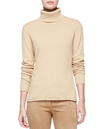Long-Sleeve Wool-Blend Turtleneck