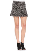 Kate Leopard-Print Flounce-Hem Skirt