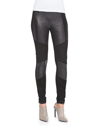 Roman Leather, Suede & Jersey Pants