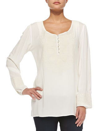 Poet Jersey Long-Sleeve Blouse