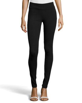 Ponte Legging Pants, Black