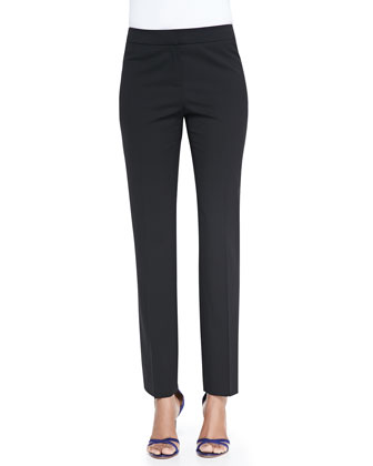 Crosby Straight-Leg Ankle Pants