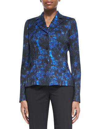 Polly Printed Peplum Jacket