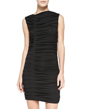 Irwin Ruched Fitted Jersey Dress