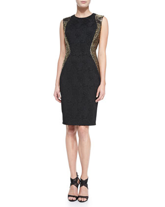 Studded Side Cocktail Dress, Women's