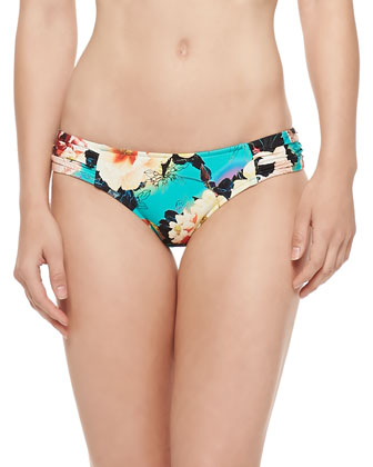 Kabuki Floral-Print Halter Top & Swim Bottom