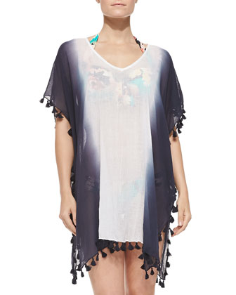 Kabuki Bloom Splendour Caftan Coverup