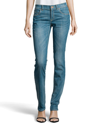 Slim-Fit Faded Jeans