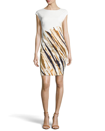 Dolene Striated Dress, Fantasy