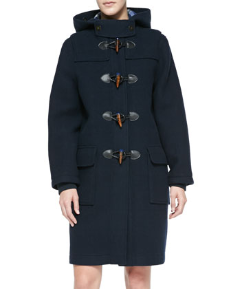 Paddington Hooded Toggle-Front Coat