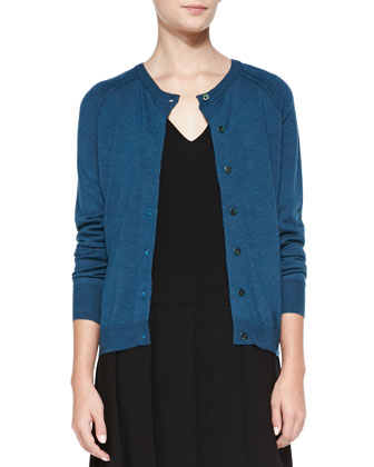 Grayson Mixed-Knit Cardigan