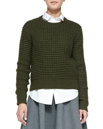 Walley Knit Crewneck Sweater, Miki Oxford Cotton Shirting & Sixties ...