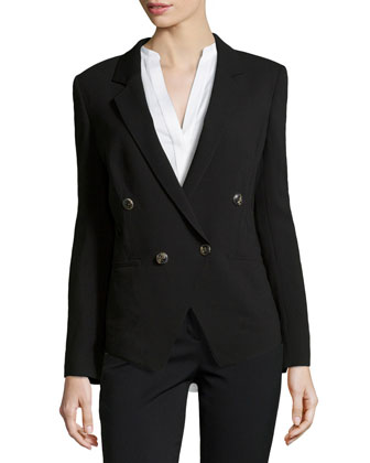 Basar Notch-Lapel Jacket, Black