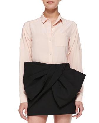 Sandwashed Crepe de Chine Blouse