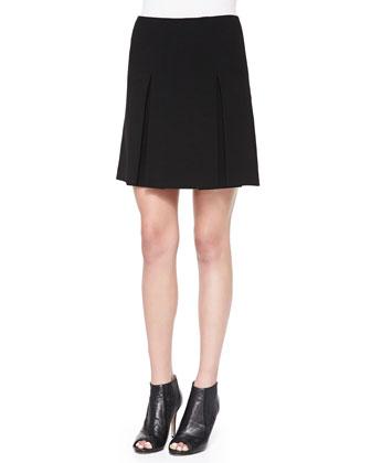 Yumi Pleated Crepe Skirt