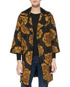 Floral-Print Opera Coat
