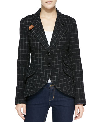 Plaid Elbow-Patch Hunting Jacket