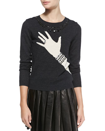 Hand-with-Ring Sweater