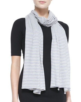 Striped Cotton/Cashmere Scarf