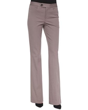 Flared Bi-Stretch Fashion Trousers
