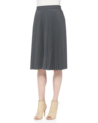 Alex Accordion-Pleated Skirt