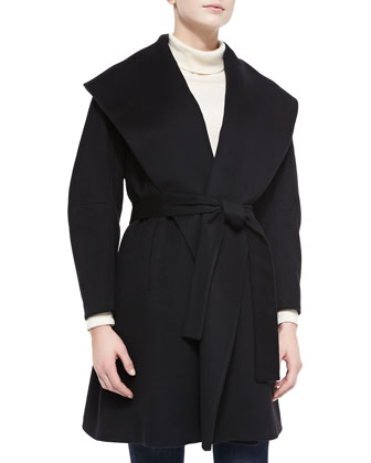 Clutch Belted Wrap Coat