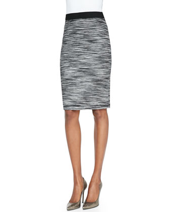 Ashby Slim Space-Dye Pencil Skirt