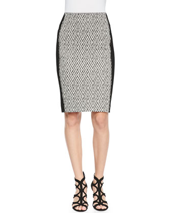 Diamond-Knit Pencil Skirt
