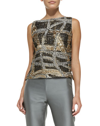 Maddie Sleeveless Metallic Top