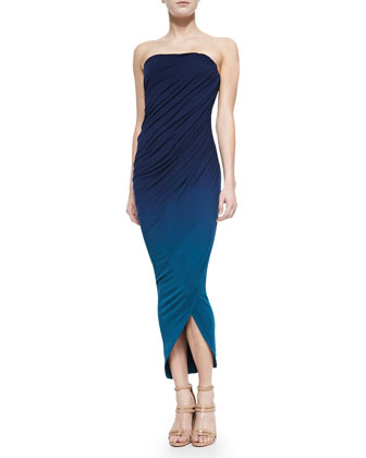 Hamlin Strapless Gathered Maxi Dress